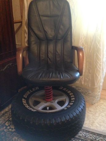 Кресло дизайнерское натуральная кожа