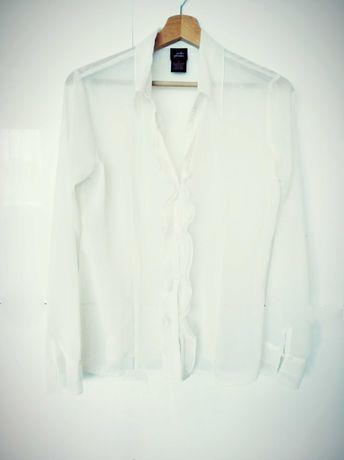 Lekka elegancka bluzka przezroczysta