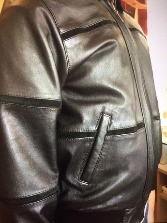 Куртка кожаная,подростковая на мальчика 8-10 лет