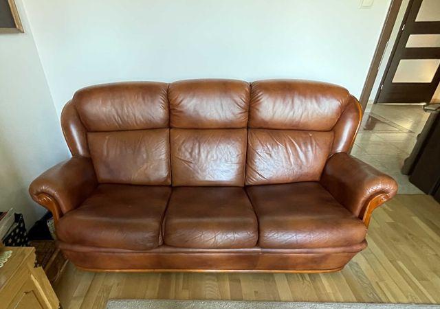 Piękna sofa 3 osobowa skórzana