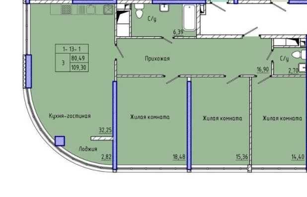 R  Квартира с прямым видом на море в 45 Жемчужине на Каманина
