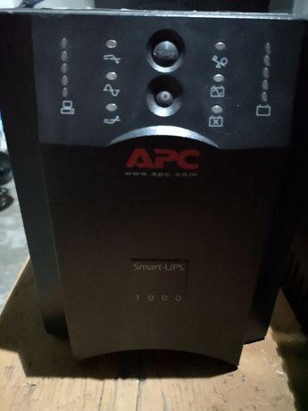 Мощный ИБП UPS APC 1000VA Smart-UPS USB Serial С Новыми батареями CSB