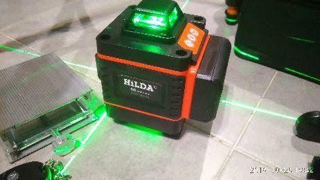 4d лазерный уровень.Зелёные лучи