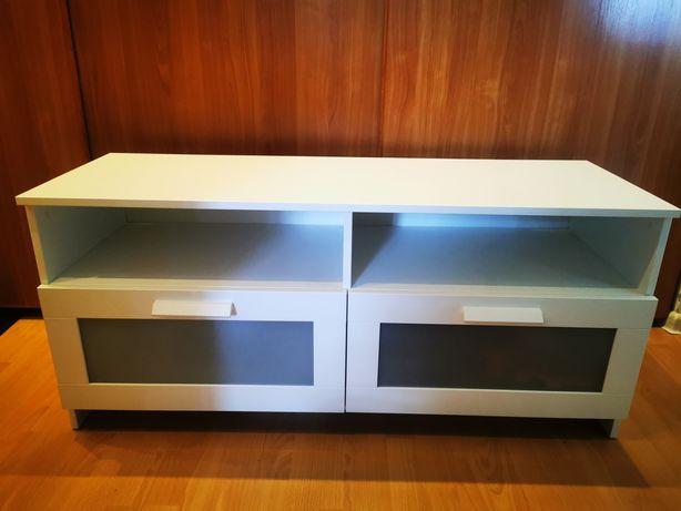 Szafka RTV, komoda pod TV, Ikea Brimnes biała- prawie nowa