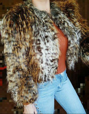 Шубка M L болеро шуба эко мех накидка жакет пиджак курточка 46 48
