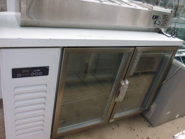 Bancada fria 2 portas vidro