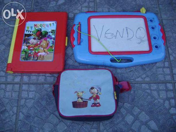 Brinquedo criança Arquivador Noddy e Pasta + tabuleiro de escrita