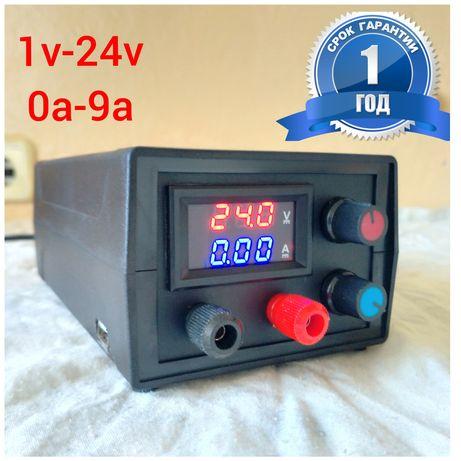 Лабораторный блок питания Регулируемый от 1-24v и 0-9а Зарядное