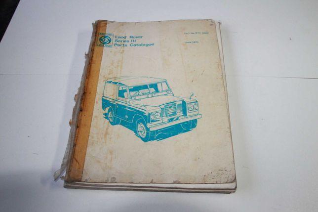Manual de Peças Land Rover Serie 3 IIIA RTC9009