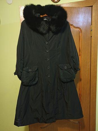 Пальто женское зима - осень р. 54 натуральный мех