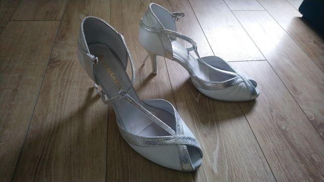 Sensatiano, buty ślubne, 40 rozmiar, obcas 8 cm