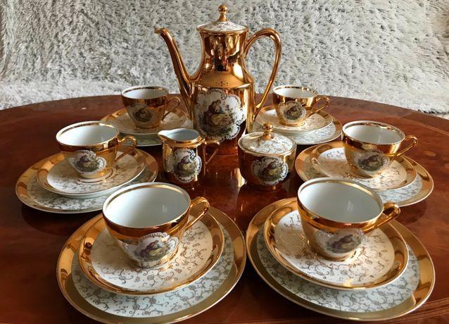 Bavaria, serwis do kawy 6 osob, porcelana.