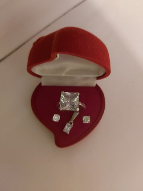 Komplet biżuterii srebro 925