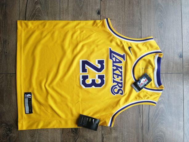 Koszulka NBA la lakers lebon James dla dużych dzieci nowa z metkami