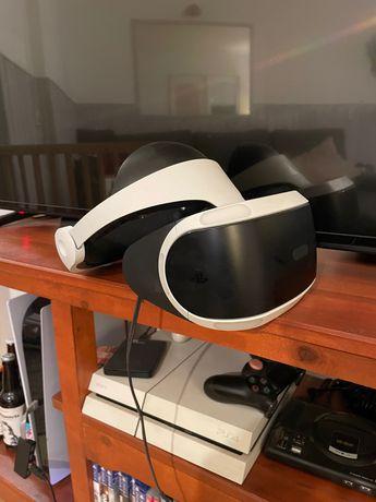 PlayStation 4 primeira edição branca+jogos+vr+guitarras