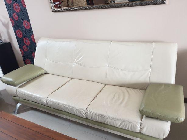 Skórzana kanapa i 2 fotele + transport