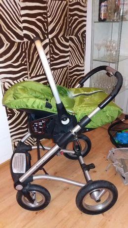 Wózek dziecięcy Mutsy 4Rider +fotelik samochodowy+duży kosz+ akcesoria