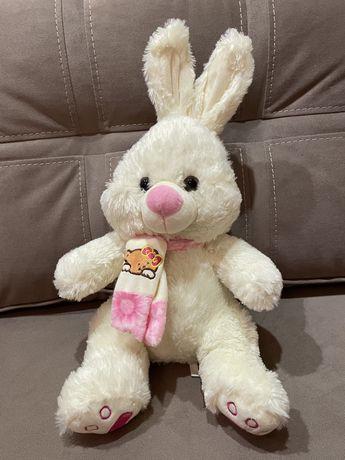 Мягкая игрушка зайца высота 47 см