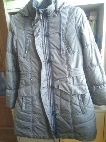 Куртка District деми плотный синтепон р 48 серо-бежевая