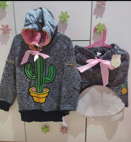 Nowy komplet Kids by voga Italia bluza+ spódnica 122/128