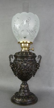 Lampa naftowa kwiat + klosz MATADOR