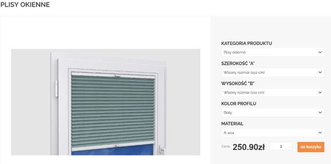 Plisy okienne żaluzje 150 cm x 110 cm miętowy/zielony plisa Karpol