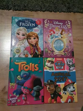 Frozen Kraina Lodu Princess Księżniczki Trolls Psi Patrol książki kpl.