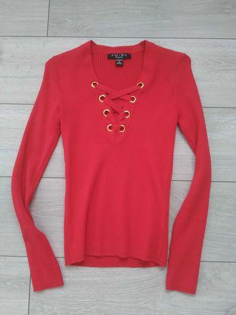 Czerwony sweterek Amisu