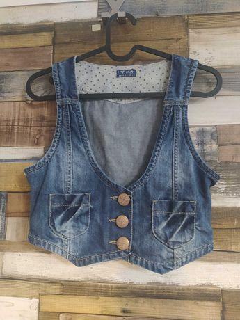 Kamizelka jeansowa dziewczęca
