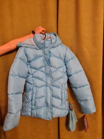 Новая детская теплая куртка на зиму (+ шапка)