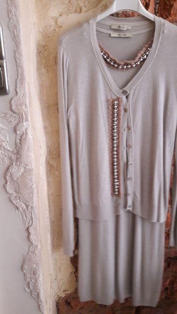 Komplet sukienka i sweterek