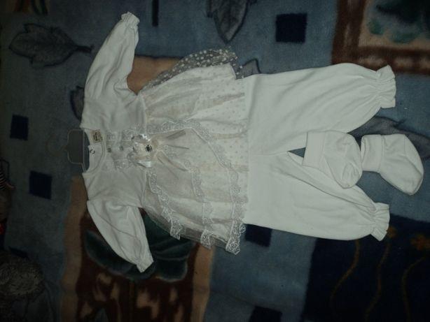 Платье (подойдет для крестин) от 3-6мес.