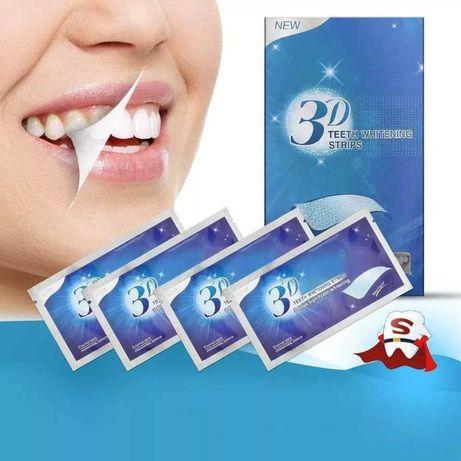 Paski do wybielania zębów 3D White jak CREST 14 sztuk domowa kuracja!