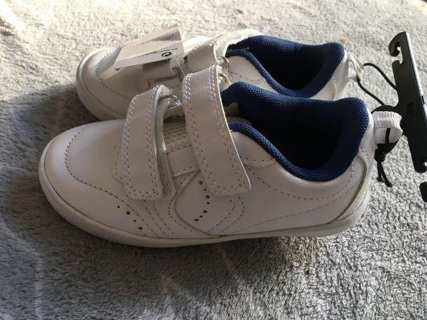 Nowe białe trampki adidasy 25
