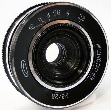 Jasny szerokokątny naleśnik Industar - 69 2,8/28mm M39 - Leica, Zorki