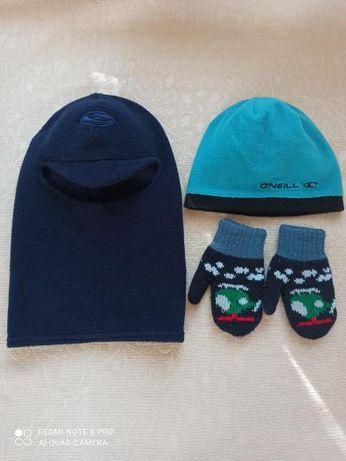 Шапка-шлем, шапка зимняя, рукавицы