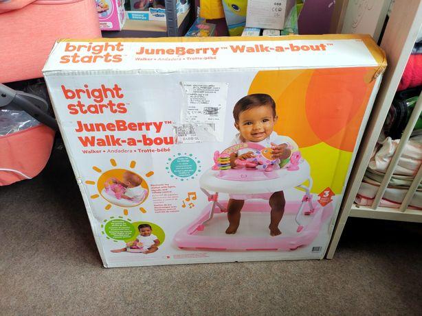 Chodzik dzieci Bright Starts JuneBerry Delight Róż