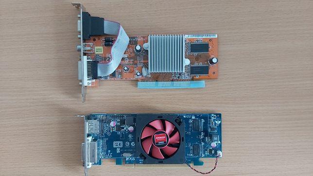 Dwie karty graficzne ATI (PCIe oraz AGP)