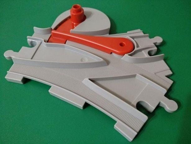 2 рельсы стрелка Лего Дупло оригинал для железной дороги