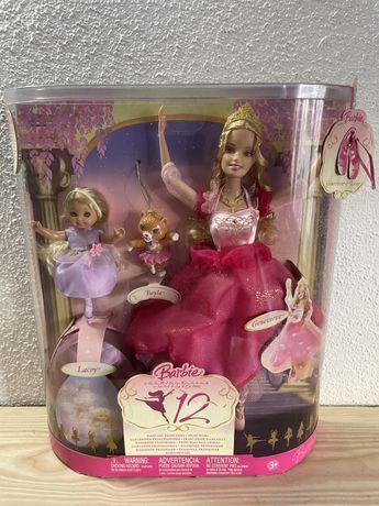 Two pack bonecas Barbie em as 12 Princesas Bailarinas