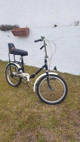 Bicicleta dobrável antiga roda 20 adulto vintage