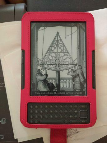 Электронная книга с кожаным чехлом amazon kindle