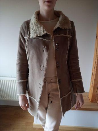 Płaszcz ze skóry ekologicznej Promod