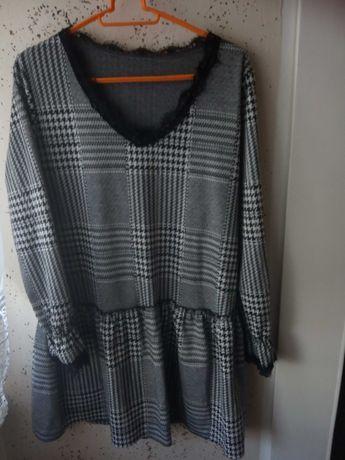 Sukienka galowa w kratę