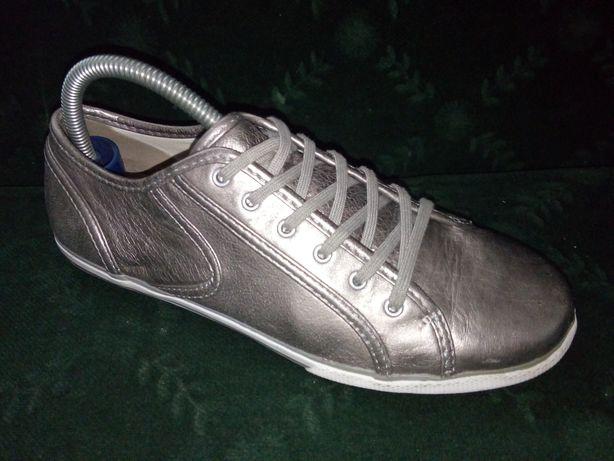 CLARKS -komfortowe  skórzane buty r 39