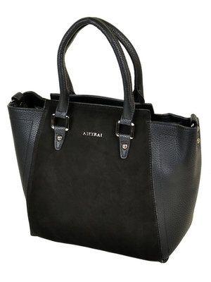 Классическая женская сумка Alex Rai черная натуральная замша