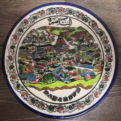 Антикварная настенная тарелка Nazareth