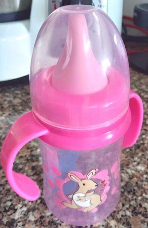 2 Copos Com Pegas Bebé + Mordedor Silicone Bebé