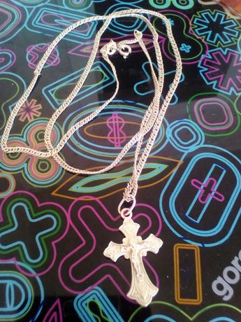 Серебро. Цепочка с крестиком