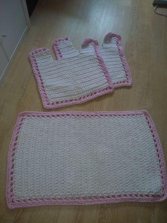 Conjunto de tapetes WC crochet